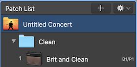 Patch List Concert