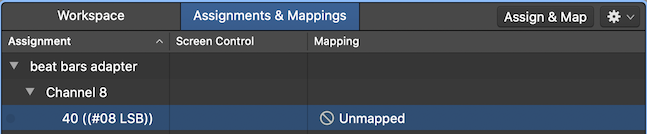 Assignments and Mappings - Unmapped