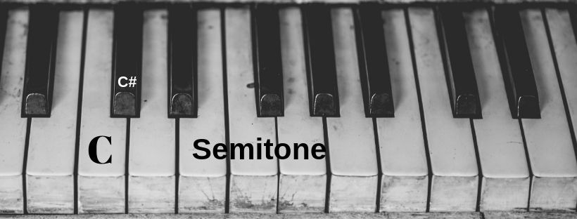 What is a semitone?